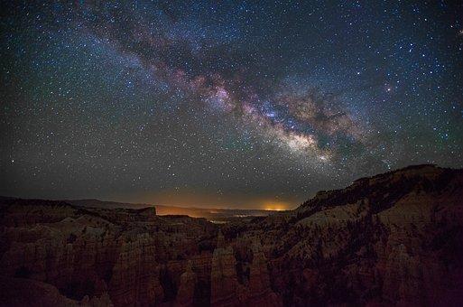 Fairyland Canyon, Utah, Park, Milky Way, National Park