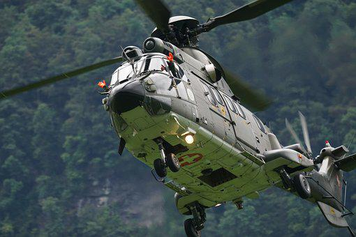 Aircraft, Helicopter, Hubchrauber, Super Puma, Cougar