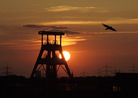 Ruhr Area, Bill, Headframe, Mining, Industry, Carbon