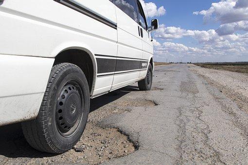 Pothole, Road, Kazakhstan, Hole, Asphalt, Repair