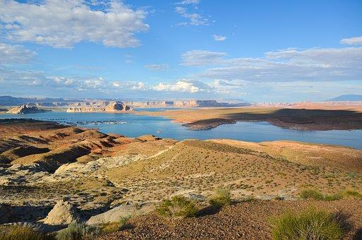 Usa, America, Lake Powell, Wahweap Overlook, Arizona