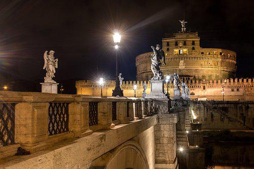 Rome, Night, Italy, Vatican, Mood, Long Exposure
