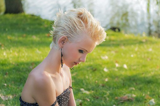 Profile, Blonde, Girl, Young, Young Girl, Lady, Man