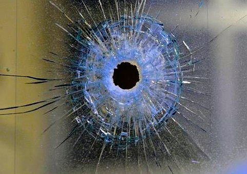 Glass, Hole, Margin, Ball, Disc, Crime
