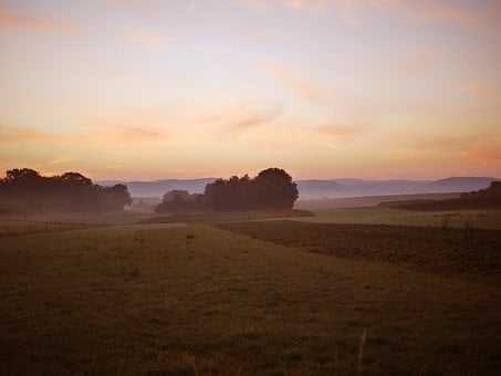 Sunrise, Atmospheric, Haze, Morning, Horizon, Wide