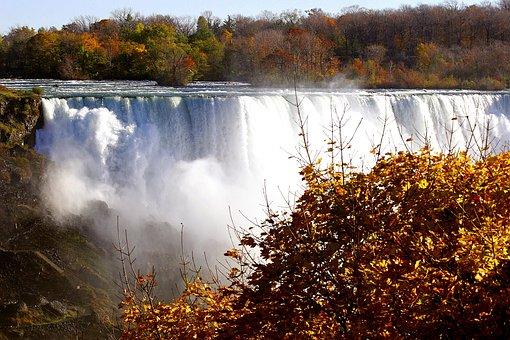 Waterfalls, Niagara Falls, Canada, River, Nature, Falls