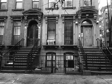 Black And White, New York, Street, City, Manhattan