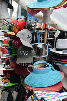 New York, New York City, Hats, Fashion, Street Vendor