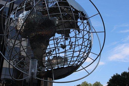 New York, Columbus Circle, Globe, York, New, Columbus