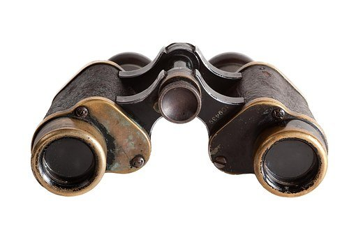 Binoculars, Isolated, Vision, Old, Search, Watch