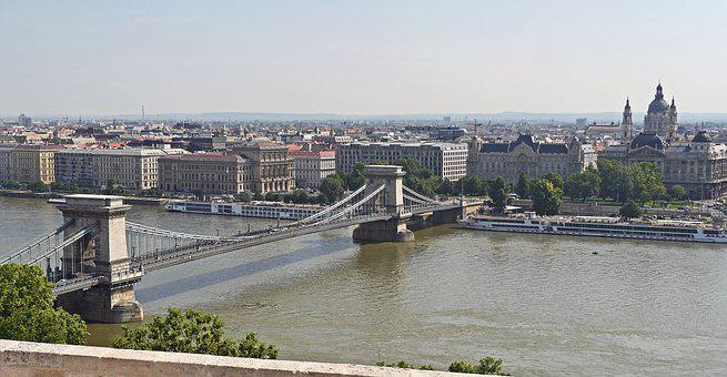 Budapest, Chain Bridge, Danube, Overview, Million City