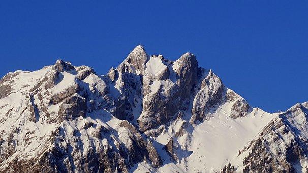 Pilatus, Mountain, Lucerne, Switzerland, Snowy