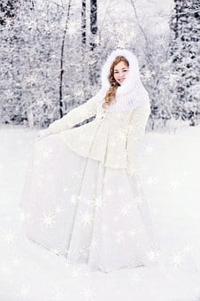 Woman, Pretty, Happy, Laughing, Girl, Winter, Snow