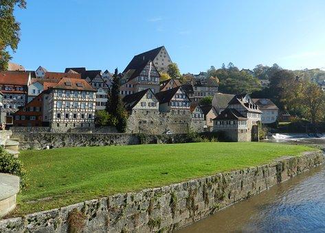 Schwäbisch Hall, Middle Ages, Fachwerkhäuser