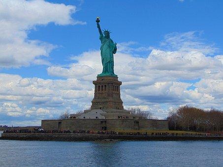 Statue, Liberty, Freedom, America, New, York, Sky