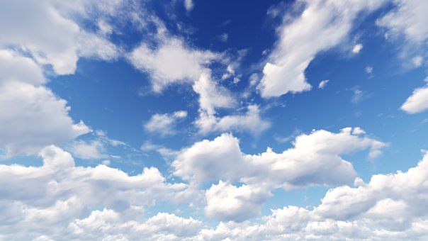 Sky, Blue, White Cloud, Sunny Days, Partly Cloudy, 7680