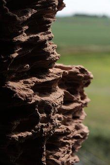 Brick, Stone, Formation, Field, Holes, Clay
