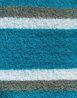 Textile, Texture, Terry Cloth, Stripes, Aqua, Azure