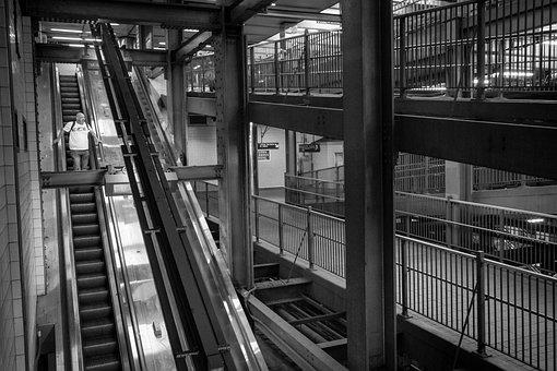 Subway, Metro, Escalator, Station, Tube, Passenger