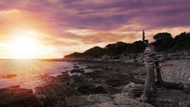 Sunset, Croatia, Sea, Rest, Abendstimmung, Holiday