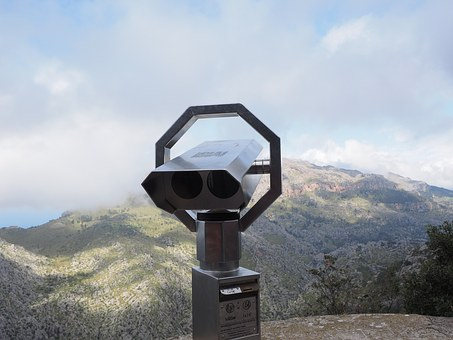Telescope, By Looking, View, Binoculars, Optics