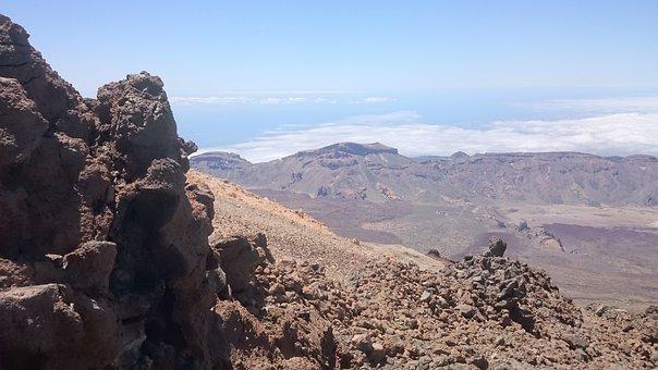 Stones, Sulfur, Volcano, Hot, Landscape, Hole, Steinig