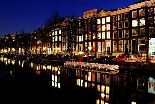 Amsterdam, Canal, Europe, Holland, Netherlands, Travel