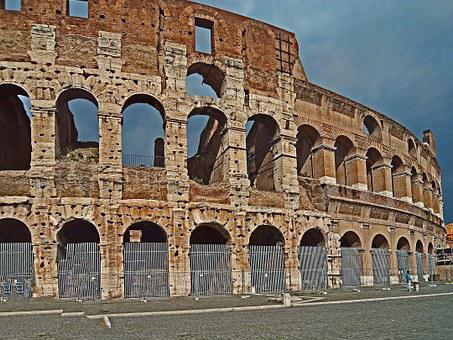 The Coliseum, Rome, Monument, Italy, Architecture