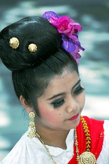 Thailand, Art, Culture, Girl, Buddhism, Dance