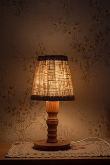 Night Table Lamp, Light, Bedside Table, Shining