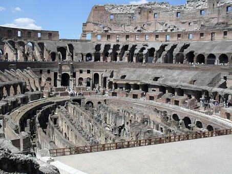 Colosseum, Rome, Roman Coliseum, Architecture, Italy