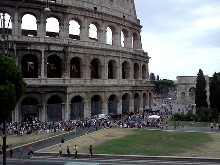 Rome, Colosseum, Italy, Ancient, Roman Coliseum