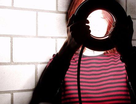 Flash, Light, Woman, Artificial Lightning, Effect, Wall