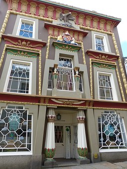 House, Facade, Egyptian, Window, Building, Architecture