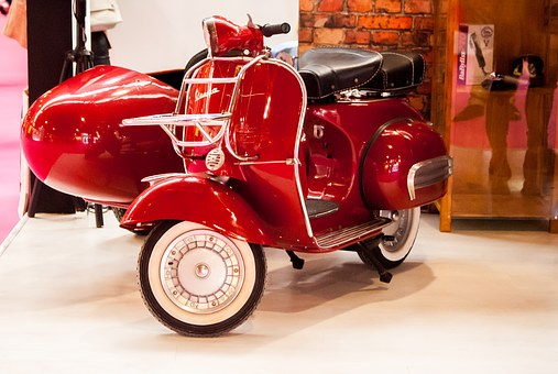 Expocosmética, Bike, Vespa, Red Bike, Sidecar