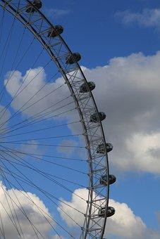 London Eye, Ferris Wheel, London, England, River