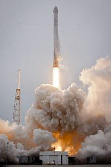 Rocket Launch, Spacex, Lift-off, Launch, Flames
