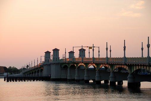 Bridge Of Lions, St Augustine, Florida, Historic