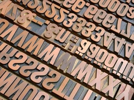 Letters, Font, Book Printing, Typography, Setzer