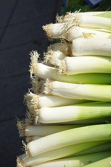 Leek, Vegetables, Healthy, Food, Stalk