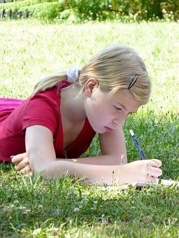 Write, Girl, Poetry, Seal, Learn, Grass Lie, Diary