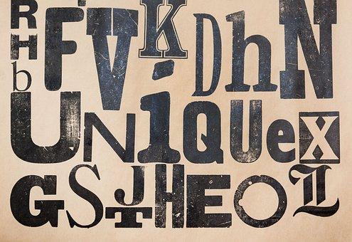 Type Specimen, Vintage, Grunge, Serifs, Sans Serif