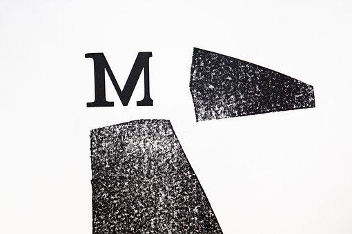 Letter, M, Lead Set, Hand Set, Font Composing Room