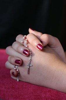 Girl, Lady, Hand, Rosary, Pray, Woman, Female, Young