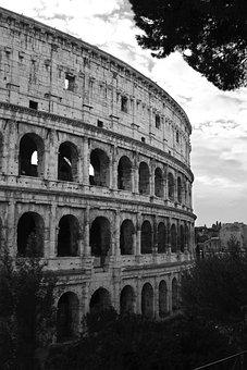 Coliseum, Italy, Rome, Europe, Roman, Colosseum