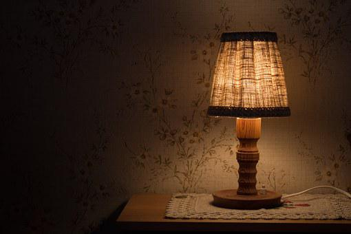 Night Table Lamp, Light, Bedside Table, Lighting