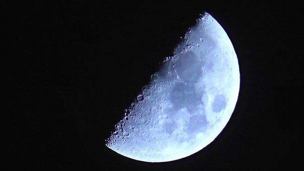 Moon, Moon By Night, Lunar, Earth's Natural Satellite