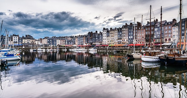 Honfleur, Normandy, Normandie, Coast, Beach, Harbor