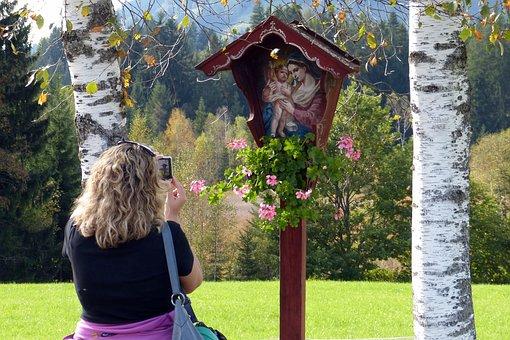 Image Stock, Birch, Madonna, Photographer, Religious