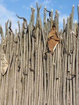 Pom, Fence, Wooden, Wall, Symbol, Rural